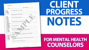 Easy Client Progress Note Template Tip For Mental Health Counselors ...