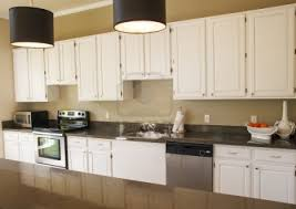 white kitchen cabinets with granite countertops. White Cabinets And Granite Countertops In Kitchen With