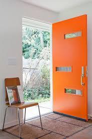 Orange front door Inside Midcenturyorangefrontdoors Homemydesigncom Midcenturyorangefrontdoors Home Design And Interior