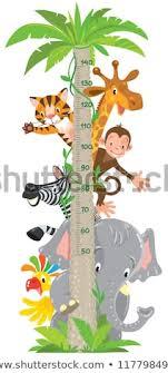 Giraffe Chart Giraffe Monkey Tiger Meter Wall Or Height Chart