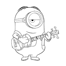 Small Picture Stuart speelt gitaar Coloring pages for kids