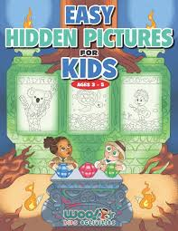 Search the picture for each carefully hidden object that doesn't quite belong. Easy Hidden Pictures For Kids Ages 3 5 A First Preschool Puzzle Book Of Object Recognition Woo Jr Kids Activities Books Woo Jr Kids 9781732958968 Amazon Com Books
