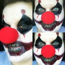 scary clown easy makeup ideas 07