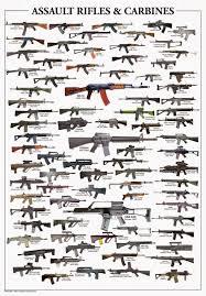 Gun Identification Chart Vintage Outdoors Semi Auto Assault Rifle And Carbine