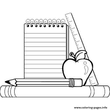Small Picture school supplies Coloring pages Printable