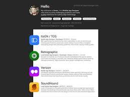 Material Mobile App Designer Resume