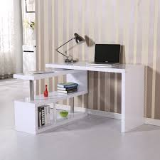 office desk storage. HOMCOM L-shaped Rotating Office Desk Corner Computer Storage Organizer With Shelves White