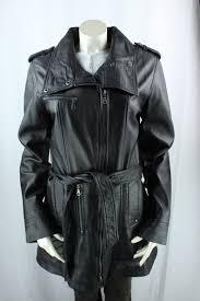 las brown leather 3 4 coat