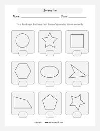 Symmetric Geometry Printable Grade 4 Math Worksheet