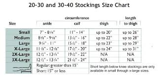 Activa Compression Socks Size Chart Truform Classic Medical Closed Toe 30 40 Mmhg Knee High