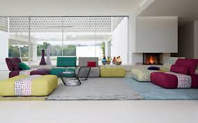 beautiful roche bobois sofas design comes with multicolor tufted sofa and grey plush carpet