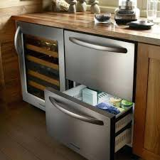 kitchen aid refrigerator drawer built in double drawer refrigerator by kitchen aid kitchenaid refrigerator bottom freezer