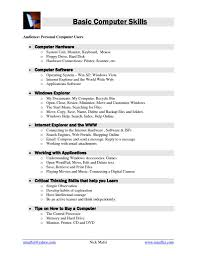 basic computer skills for resumes basic computer skills resume new 13 puter skills resume