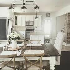 dining room light fixtures farmhouse light for kitchen rustic modern farmhouse with farmhouse table with a wood top and white cabinets