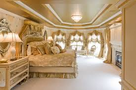 gold bedroom furniture. gold bedroom with custom bedding and window treatments traditional-bedroom furniture o
