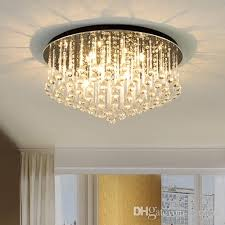 modern led round crystal chandeliers light home decor chandelier pendant lightings fixture for living room bedroom guest room hotel room crystal chandelier