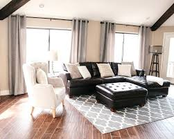 brown leather sofa with grey rug light decorating ideas couch dark couches decor splendid how visually lighten