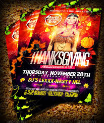 thanksgiving party flyer thanksgiving thanksgiving club parties and print templates