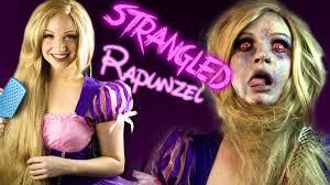 strangled rapunzel makeup tutorial glam gore disney princess you