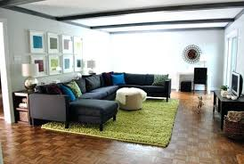 how to place a rug under a sectional sofa sofa beds design interesting modern rugs for