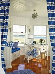 classic coastal office space blue white blue white office space