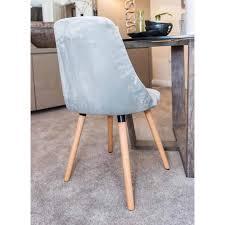 highback dining chair grey velvet highback dining chair grey velvet