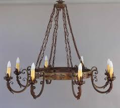 circa 1930 s original finish rich brownish patina wrought iron construction measures 72