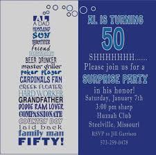 50th Birthday Invitation Ideas Awesome Elegant Birthday Invitations
