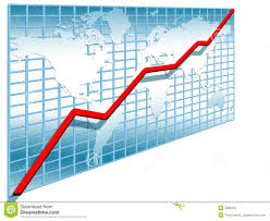 3d Stock Chart 3d Line Chart Stock Illustration Illustration Of Accounting