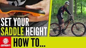 How To Set Your <b>Saddle</b> Height – <b>MTB</b> Pro Tips - YouTube
