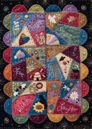 Best 25+ Wool quilts ideas on Pinterest | Quilts for men patterns ... & This wool crazy quilt pattern is perfect for those who love the crazy quilt  embroidery stitches! Pattern has six block units that are stitched to a  black ... Adamdwight.com