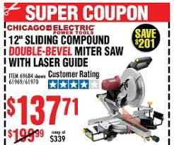 harbor freight miter saw. double-bevel sliding compound miter saw with laser guide system harbor freight