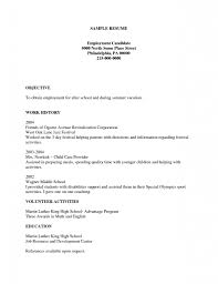 Sample Kids Resume Resume Examples Sample Resume Employment Candidate Place Street 38