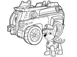 Aw Patrol Kleurplaat Chase Met Politie Auto Paw Patrol Kleurplaten