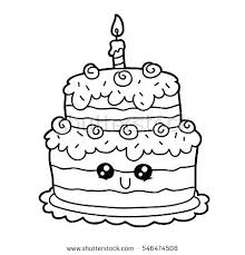 cute cake coloring pages. Unique Coloring Here Are Birthday Cake Coloring Pages Pictures  Vector Illustration Of Cute Cartoon To Cute Cake Coloring Pages R