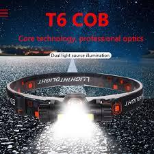 Super Bright <b>LED Headlight Outdoor camping</b> Portable Q5+COB ...