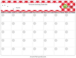 Summer Activity Calendar Printable - Mom It Forwardmom It Forward