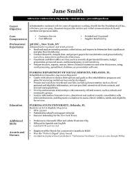 A Sample Of A Good Resume Executive Sample Resumes For College