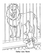 zoo cage coloring page. Delighful Coloring Zoo Animal Coloring Page  Roaring Lion On Cage Coloring Page A