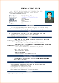 Latest Resume Format Freed Doc Curriculum Vitae Free Download
