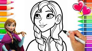 Disney Frozen 2 Anna Coloring Page Frozen Coloring Book Anna And