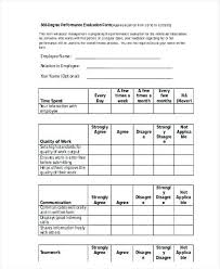 performance feedback form 360 performance review template evaluation form template images of