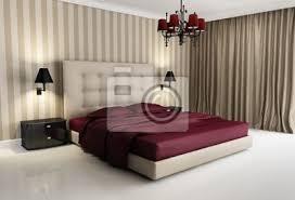 Camera Da Letto Beige E Marrone : Carta da parati chic hotel di lusso beige rosso camera letto