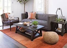 a console table and side table