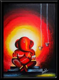 alfa img showing ganpati abstract paintings ganesha ganesha acrylics and canvases