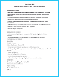Resume Wonderful Sample For Bank Teller Job Position With
