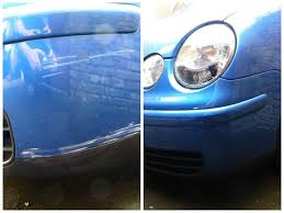 andrews volkswagen polo after being treated with the chipex touch up kit