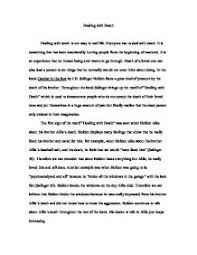 sample english essays christmas essay in english english  dealing death in catcher in the rye alevel english page zoom in