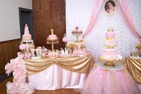 Kara S Party Ideas Gold Pink Royal Princess Birthday Dessert Table