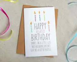 Folded Birthday Card Details About Funny Belated Birthday Card Facebook 5x7 Folded Kraft Envelope